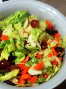 cucumber grape and carrot salad