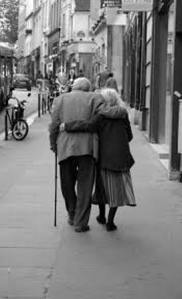 loving old couple