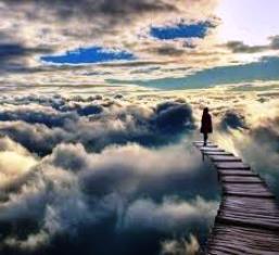 dream path in clouds