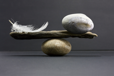 Dream-Wisdom stone feather balance